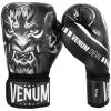 boxing gloves venum devil black white f2