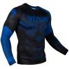 rashguard venum long sleeve nogi black blue f2