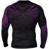 rashguard long sleeves venum nogi black purple f3