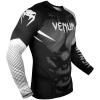 rashguard venum long sleeves nogi black white f2