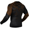 rashguard venum long sleeves nogi black brown f4