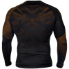 rashguard venum long sleeves nogi black brown f3