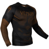 rashguard venum long sleeves nogi black brown f2
