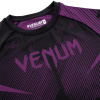 rashguard venum short sleeves nogi black purple f5