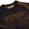 rashguard venum short sleeves nogi black brown f5