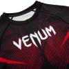 rashguard venum short sleeves nogi black red f5