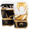 sparring gloves venum challenger white black gold f1