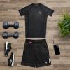 mma shorts hayabusa hexagon black f3