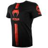 venum 03449 100 tshirt tricko logos black red f2