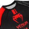 venum 03451 100 s rashguard long sleeve logos black red f5