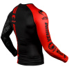 venum 03451 100 s rashguard long sleeve logos black red f3