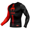 venum 03451 100 s rashguard long sleeve logos black red f2