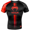venum 03450 100 rashguard short sleeves logos black red f1