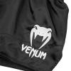 shorts venum muay thai classic black white f4
