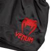 shorts venum muay thai classic black red f4