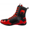 venum 03681 100 boxing shoes boxerske boty elite black red f6