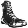 venum 03681 128 boxing shoes elite black silver boxerske boty obuv f8