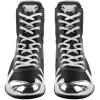 venum 03681 128 boxing shoes elite black silver boxerske boty obuv f7