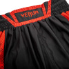 venum 03452 100 boxing short elite black red boxerske sortky f10