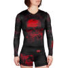 damsky rashguard long venum santa muerte 3.0 black red 1