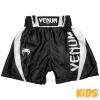 shorts boxing kids venum elite black white 1