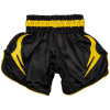 shorts muay thai kids venum inferno black yellow 2