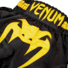 shorts muay thai kids venum inferno black yellow 3