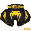 shorts muay thai kids venum inferno black yellow 1