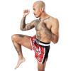 8 weapons muay thai shorts super mesh rot schwarz5