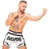 8 weapons muay thai shorts carbon snow night5