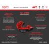Chránič zubů Opro Silver - černá/červená