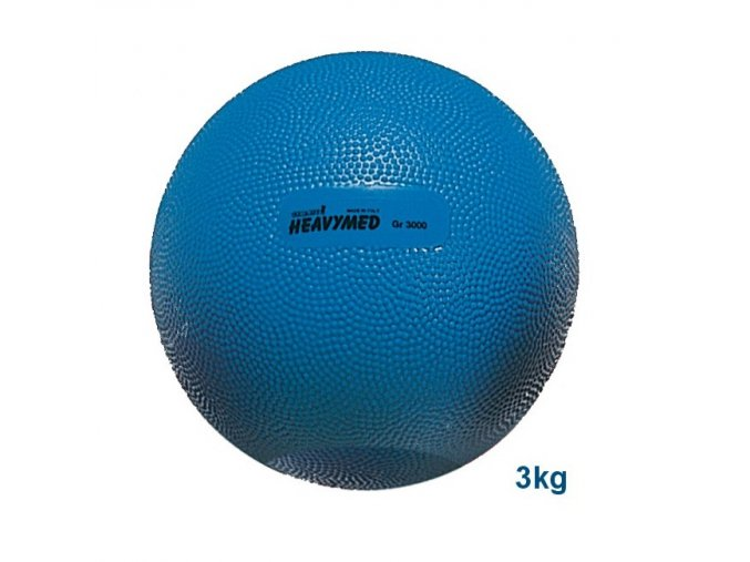 Heavymed medicinbal - 3 kg - modrý - originál (Italy)