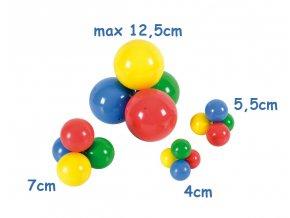 Loptička - 12.5 cm - rôzne farby - originál (Italy)