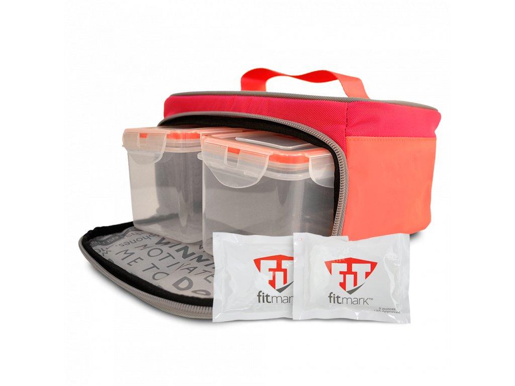 Fitmark termotaška na jídlo THE BOX SM v růžové barvě - Fitmark a2a21d73a3d