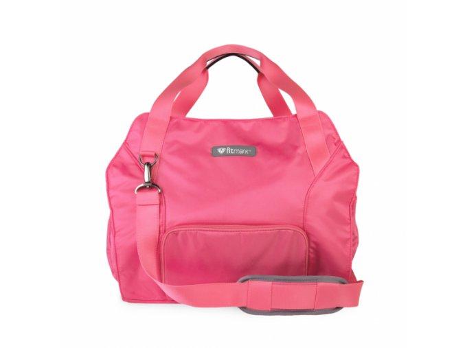 transportertotebag pink frontwithstrapflaten 580x580 1