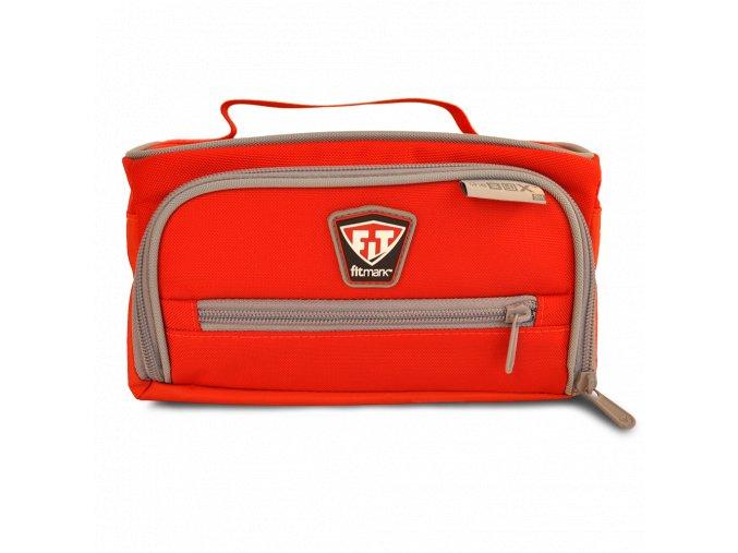 Fitmark termotaška na jídlo THE BOX SM v červené barvě