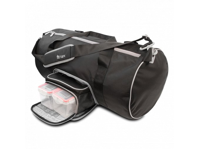Fitmark taška do fitka TRANSPORTER DUFFEL v černé barvě  + Dárek