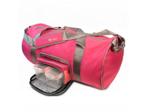 Fitmark taška do fitka TRANSPORTER DUFFEL v růžové barvě  + Dárek