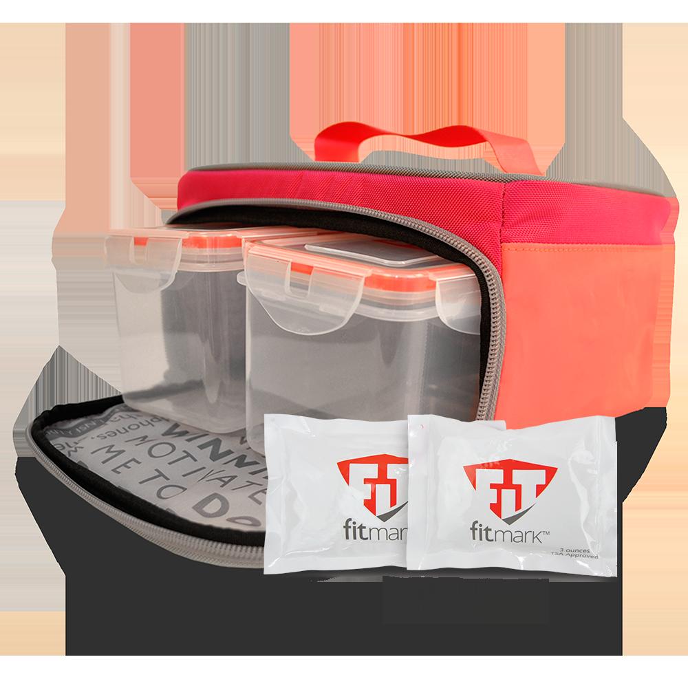 Stylová termo taška na jídlo the BOX SM v růžové barvě