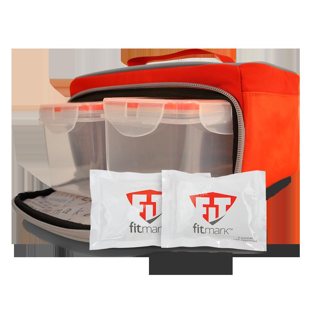 Stylová termo taška na jídlo THE BOX SM v červené barvě