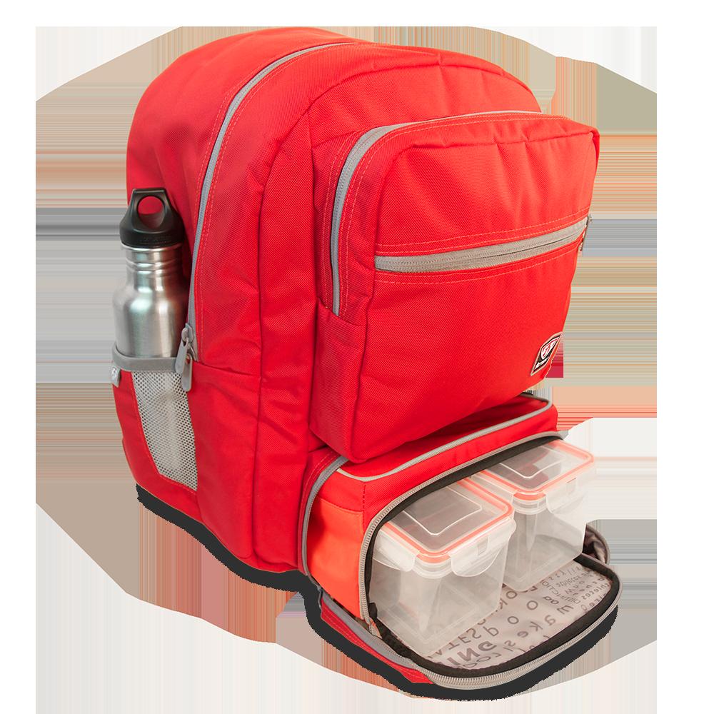 Fitmark Baťoh Transporter Backpack v červené barvě