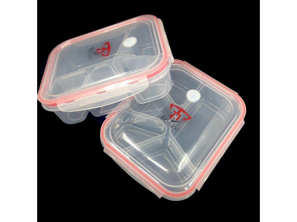 Krabičky na jídlo Fitmark - 5 přihrádek (2ks)
