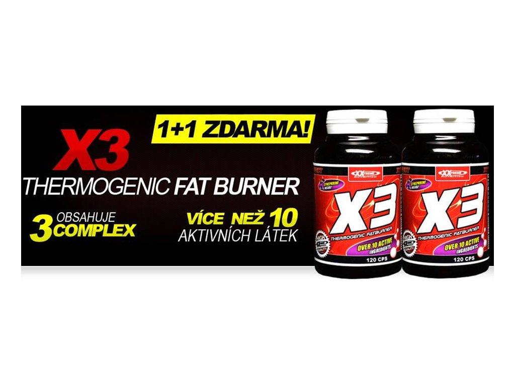 X3 - Thermogenic Fatburner 1+1 ZDARMA