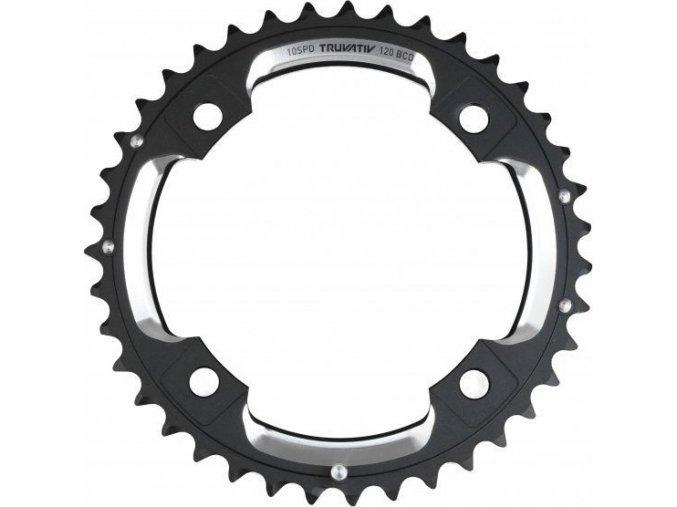Chain Ring MTB 42T S2 120 AL6 Blast Black S-Pin BB30 CNC 2x10