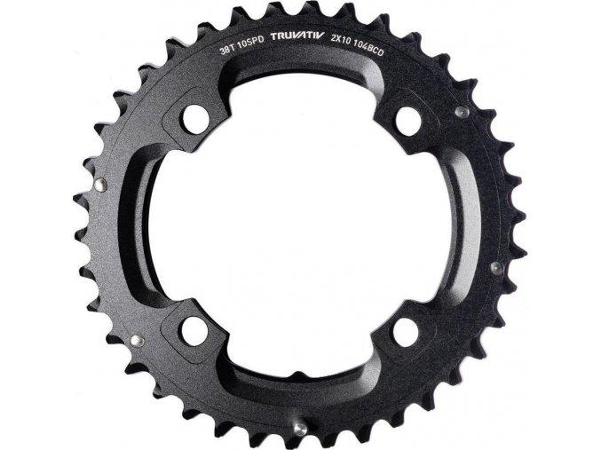 Chain Ring MTB 38T S1 104bcd 49 chainline AL5 Blast Black 2x10 No Pin (38/24)