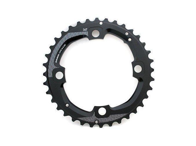 Chain Ring MTB 36T 104 AL5 Blast Black 2x11 No Pin