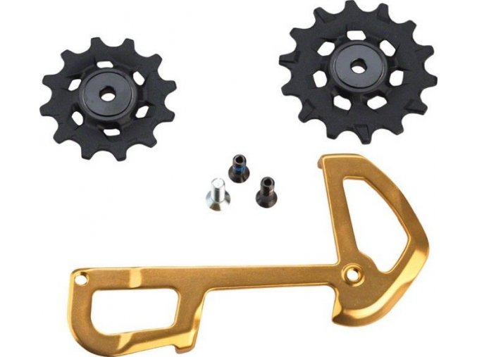 XX1 Eagle Rear Derailleur 12 speed X-Sync Pulleys and InnerCage Gold