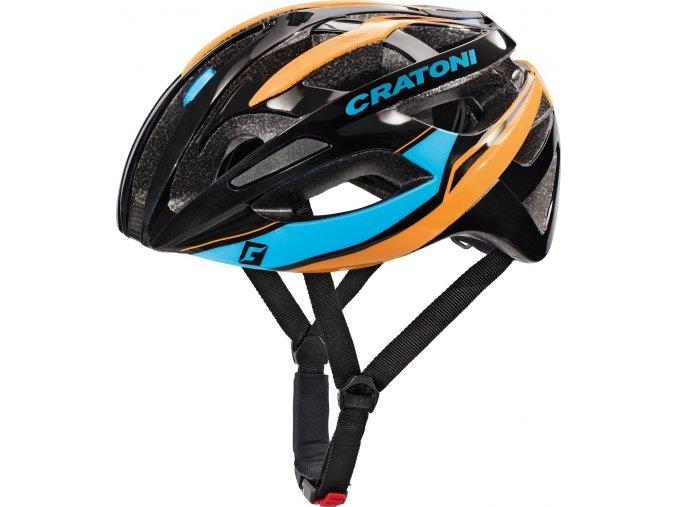 Cratoni C-Breeze black-blue-orange glossy (velikost/barva L-XL/59-62 - černá/modrá/oranžová lesk)