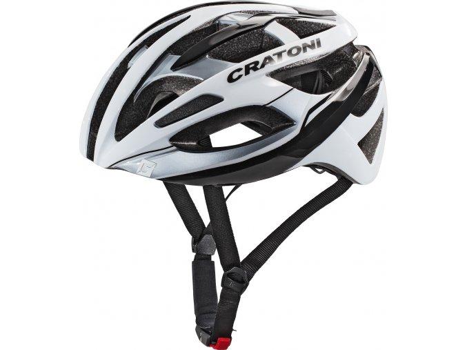 Cratoni C-Breeze white-black glossy (Varianta L/XL (59-62cm))