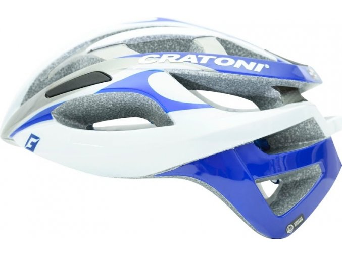Cratoni C-Breeze white-silver-blue glossy (Varianta L/XL (59-62cm))